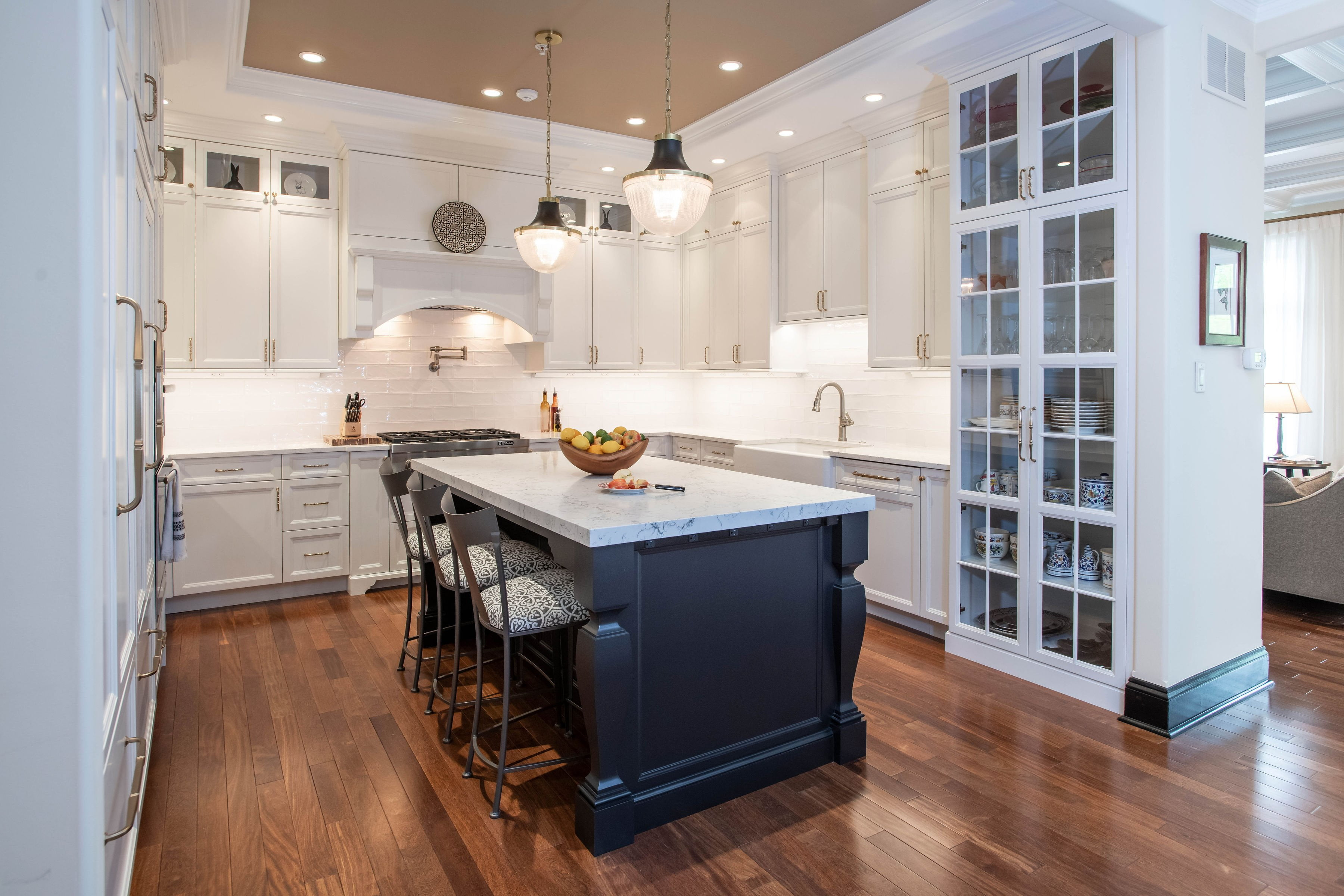 Stunning luxury kitchen remodel in the Hingtgen project completed by the team at Sunnyfields Cabinetry.