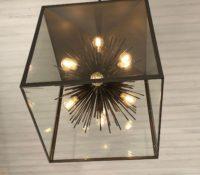 Custom urchin in a box chandelier
