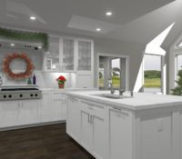 3D Rendering of a Home Decorated for the holidays