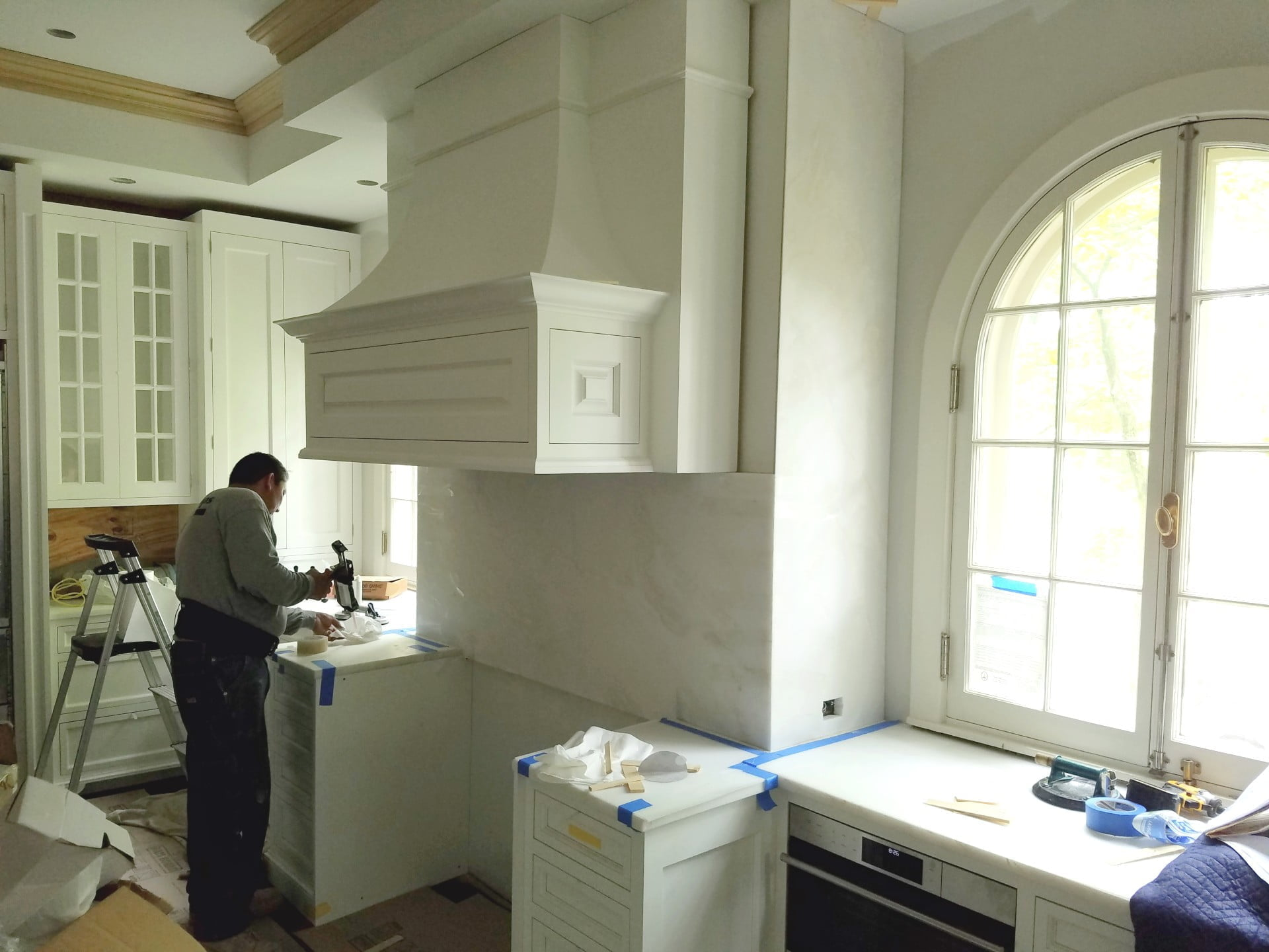 Remodeling kitchen in process