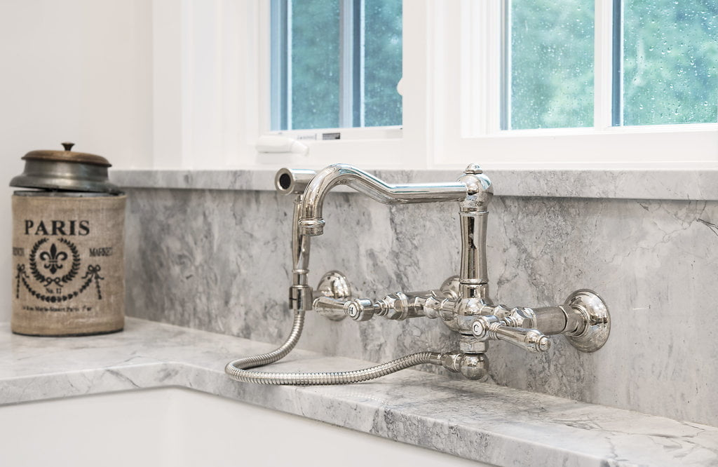 Traditional style stainless steel kitchen sink faucet